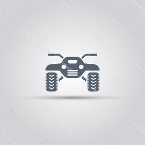 Motorcycle Off-Road Tire Vector: Stock Illustration Atv Isolated Vector Icon Off