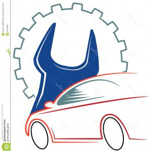 Auto Mobile Vector Art: Stock Illustration Automobile Workshop Logo Design Isolated White Background Image