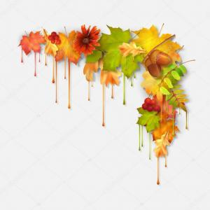 Dripping Paint Vector Illustration: Stock Illustration Autumn Vector Dripping Paint Leaves