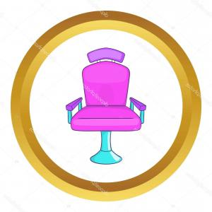 Golden Barber Vector: Stock Illustration Barber Chair Vector Icon