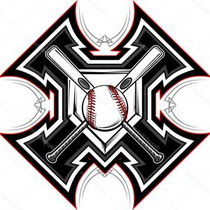 Vector Baseball Cross: Stock Illustration Vector Set With Baseball Logos