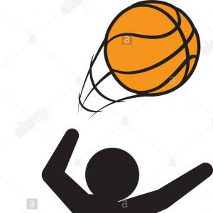Jumping Basketball Player Silhouette Vector: Stock Illustration Basketball Player Jumping Dunking Silhouette