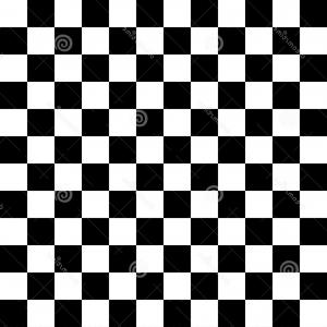 Checker Vector Seamless Pattern: Stock Illustration Black White Checkered Seamless Pattern Abstract Monochrome Vector Image