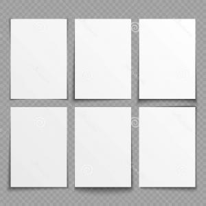 Architecture Sheet Vector: Stock Illustration Blank Sheets White Paper Different Shadow Effects Vector Templates Presentation Sheet Collection Image