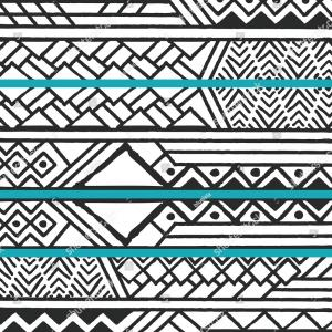 Bohemian Pattern Vector: Stock Illustration Boho Chic Colorful Pattern