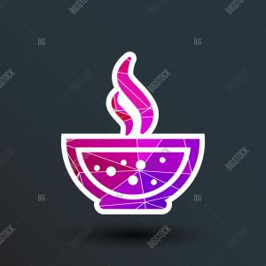 Soup Bowl Vector Decal: Stock Illustration Bowl Vector Icon