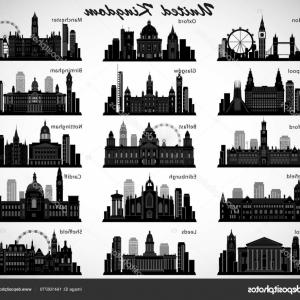 UK Skyline Vector: Photostock Vector Skyline Panorama Of Belfast Belfast Northern Ireland United Kingdom