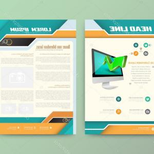 Vector Brochure Cover Designs: Stock Illustration Abstract Template Fancy A Brochure