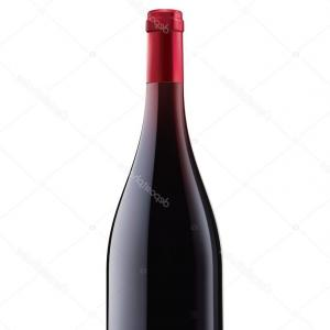 Wine Bottle Vector Drawings: Stock Illustration Burgundy Red Wine Bottle Vector