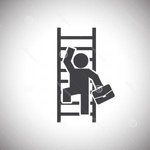 Vector Career Ladder: Career Ladder Icon Isolated Sign Symbol