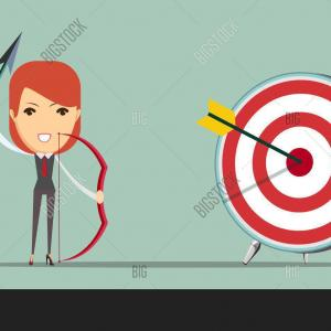 Target Bow And Arrow Vector: Stock Illustration Businessman Focus To Hit Target Bow Arrow Vector Illustration Business Goals Concept Aiming Image