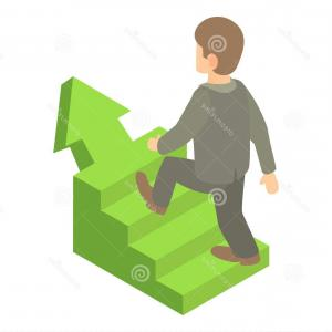Vector Career Ladder: Career Ladder People Conceptual Vector Illustration