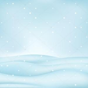 Free Winter Vector: Stock Illustration Calm Free Winter Landscape Plain