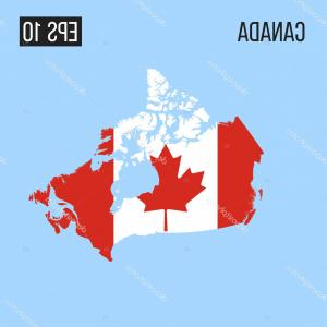 Canada Map Vector EPS: Stock Illustration Canada Map Border Flag Vector