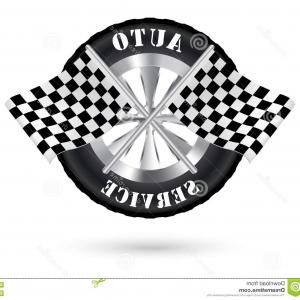 Racing Flag Vector Logos For Racing: Stock Illustration Car Auto Service Logo Racing Flag Image