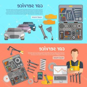 Vector Mechanic Tool Box: Stock Illustration Car Service Car Repair Banner