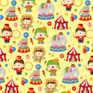 Circus Background Vector: Circus Advertisement Vintage Poster Background Vector