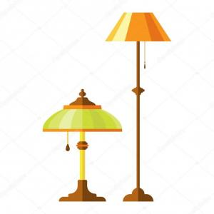 Vector Sport Spot VEC127Y Manual: Stock Illustration Cartoon Lamp Vector Illustration