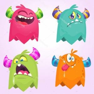 Vector Devil Whiskey: Stock Illustration Cartoon Monsters Vector Set Of