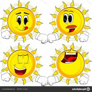 Emoji Fist Bump Vector Graphic: Stock Illustration Cartoon Sun Giving Fist Bump