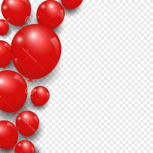 Red Balloon Vector: Stock Illustration Celebration Festive Red Balloons Transparent Background Vector Illustration Image