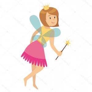 Princess Wand Vector: Stock Illustration Character Girl Princess Fairy Magic