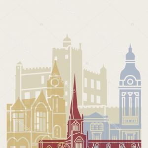 UK Skyline Vector: Stock Illustration Britains Cities Skylines Set Vector