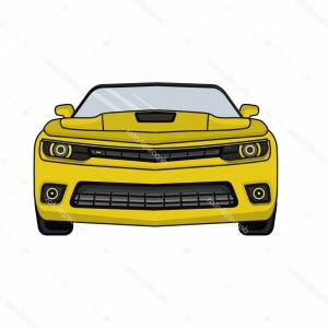 Camaro Vector Art Silhouette: Stock Illustration Chevrolet Camaro Yellow Car In