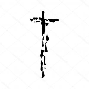 Vector Religion: Stock Illustration Christian Cross Grunge Vector Religion