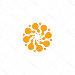 Modern Flower Logo Vector: Modern Flower Symbol Logo Exotic Shop