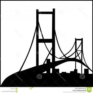 Construction Logos Vector Black And White: Stock Illustration Civil Engineering Logo Illustration Bridge Silhouette Image