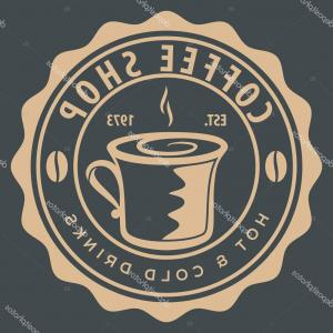 EOD Logo Vector: Stock Illustration Coffee Shop Logo Design Template