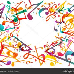 Vector Graphix: Stock Illustration Abstract Music Notes Background Vector