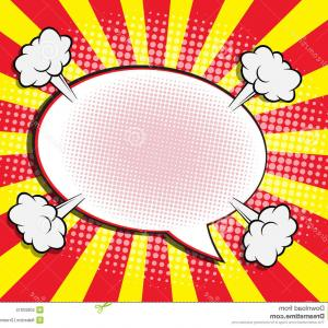 Comic Book Vector Graphics: Blank Speech Bubble Pop Art Comic Book Vector