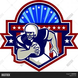 Front-Facing Football Helmet Vector: Stock Illustration Crashing Football Helmets