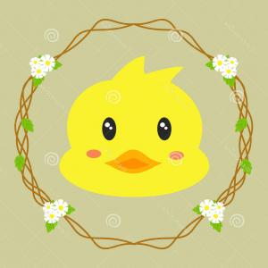 Cartoon Duck Vector: Cute Chicks Cartoon Yellow Ducks Baby