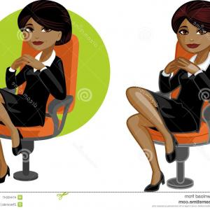 Black Woman Stock Vector: Black Woman Face African American Girl