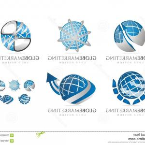 Globe Vector Marketing Logo: Global Social Media Marketing Logo Design Template Vector Global Social Media Marketing Image