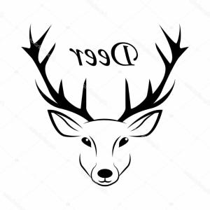 Black And White Holiday Deer Vector: Stock Illustration Deer Icon Icon Deer Christmas