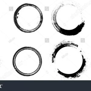 Distressed Painted Circle Vector: Stock Illustration Distressed Circle Stamp Vector Black