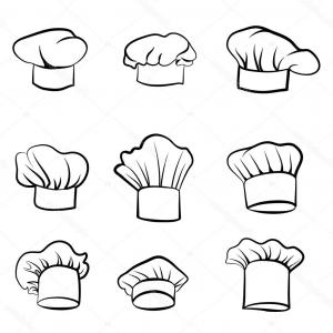 Vector Cocinero De Sombreros: Stock Illustration Drawn Hat Chef Cook Set
