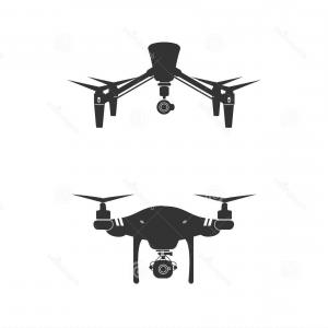 Production Camera Vector: Stock Illustration Drone Logo Design Icon Technology Camera Vector Illustration Image