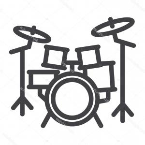 Kick Drum Vector: Kick Drum Double Pedal Simple Icon