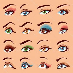 Vector Illustration Eyes Makeup: Stock Photos Party Eyeshadow Vector Illustration Gold Silver Effect Sparkles Image