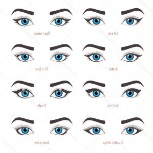 Vector Illustration Eyes Makeup: Stock Illustration Eye Makeup Types Eyeliner Shape