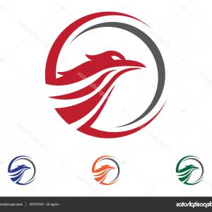 Falcon Wing Vector Art: Stock Illustration Falcon Wing Logo Template