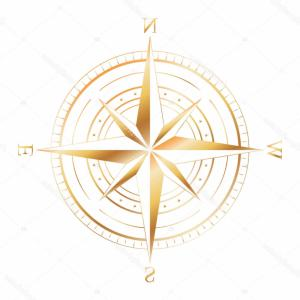 Nautical Compass Rose Vector: Stock Illustration Gold Compass Rose Vector Illustration