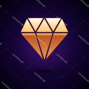 Gold Diamond Vector Graphic: Stock Illustration Gold Diamond Icon Isolated On
