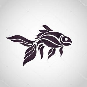 Illustrator Logo Vector: Stock Illustration Goldfish Logo Vector Icon Illustrator