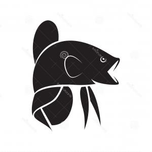 Fish Vector Graphic: Stock Illustration Black Graphic Angry Silhouette Monster